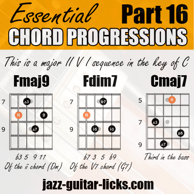 2 5 1 chord progression with guitar shapes