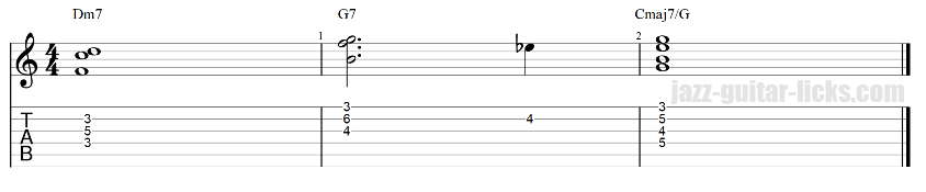 2 5 1 guitar chord clusters 3 7 1