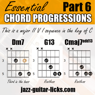 2 5 1 jazz chord progression for guitar