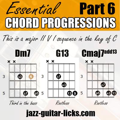 2 5 1 jazz chord progression for guitar