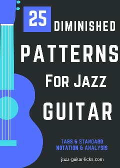 25 diminished patterns for guitar