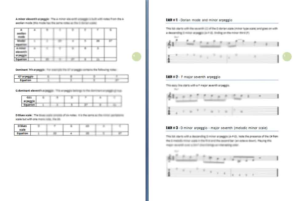 25 minor jazz guitar licks ebook preview
