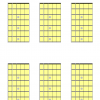 6 blank guitar chord diagrams