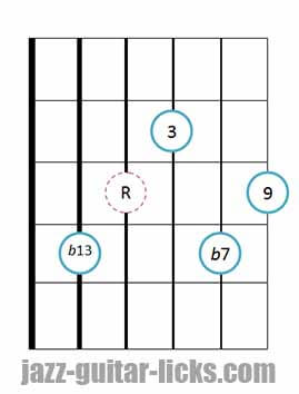 9b13 guitar chord 10