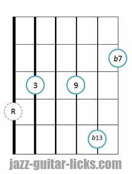 9b13 guitar chord 11