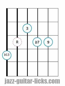 9b13 guitar chord 15