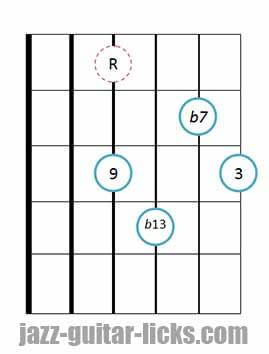 9b13 guitar chord 6
