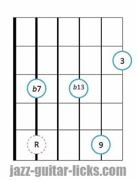 9b13 guitar chord 7