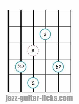 9b13 guitar chord