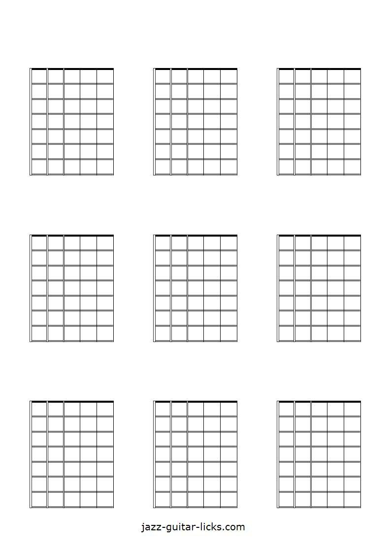 9 blank guitar neck diagrams