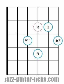 9b13 guitar chord 4