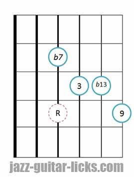 9b13 guitar chord 5