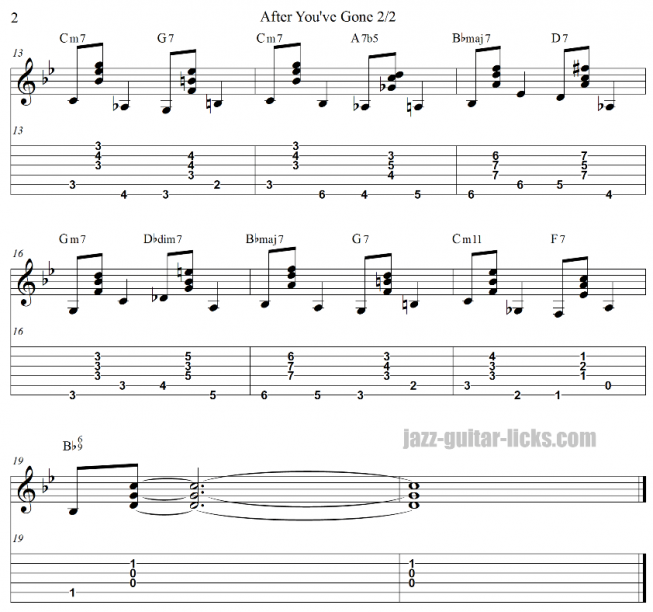 After you ve gone jazz guitar walking bass study part 2