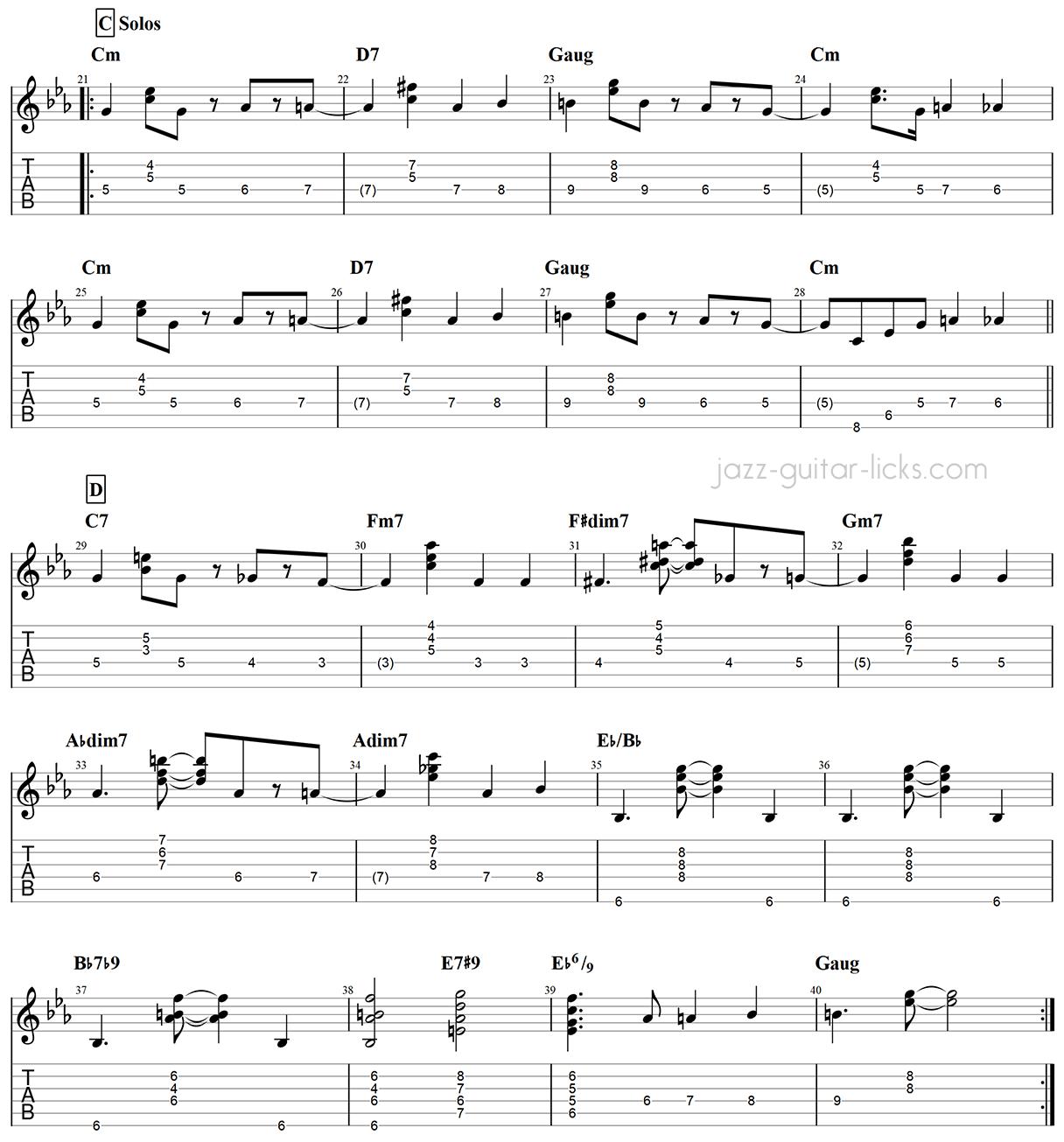 Armando s rumba guitar chords chick corea part 3