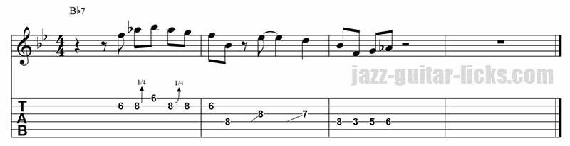 Barney kessel - Jazz guitar lick 1