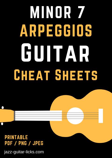 minor 7 arpeggio cheats sheet for guitar