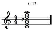 C13 chord