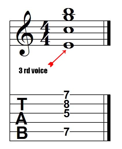 C7 drop 3 voicing