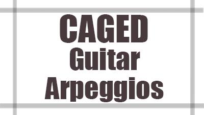 Caged guitar arpeggios
