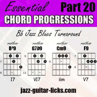 Chord progressions turnaround jazz guitar 20