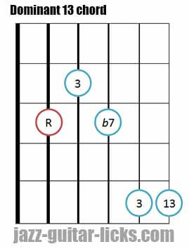 Dominant 13 th guitar chord 2