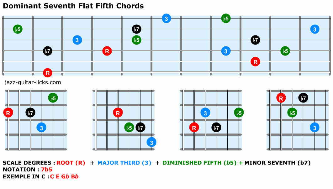 Dominant seventh flat fifth chords