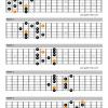 Dominant pentatonic scale guitar shapes