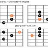 Dorian flat second pentatonic scale guitar charts