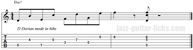 Dorian lick and chords