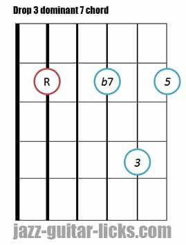 Drop 3 dominant 7 chord 3