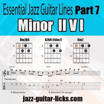 minor 2 5 1 jazz guitar pattern