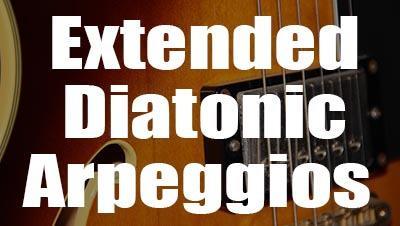 Extended diatonic arpeggios