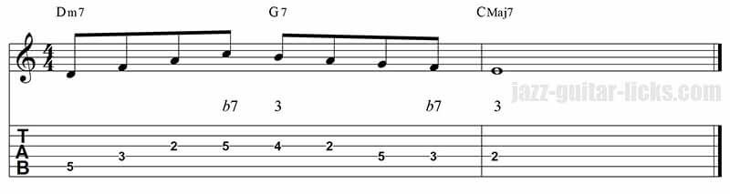 Guide tones jazz guitar lick 1