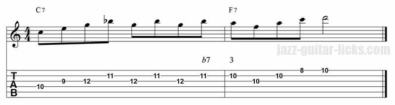 Guide tones lick 4 I-IV sequence
