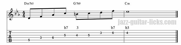 Guide tones lick 7 minor ii v i 2