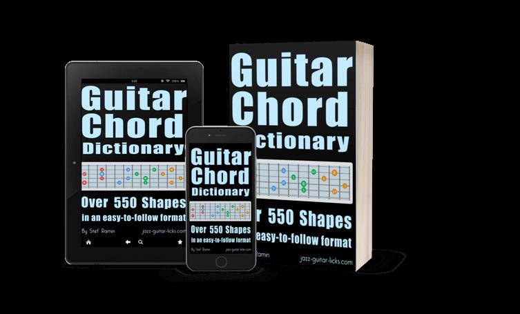 Guitar chord dictionary method