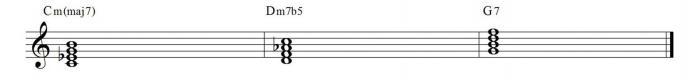 minor II V I chords