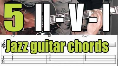 II V I jazz guitar chords