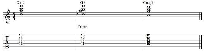 Ii v i major 7 chord exercise 1