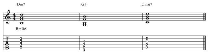 2 5 1 major 7 chord exercise 2