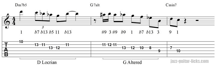 minor 2 5 1 lick with tab