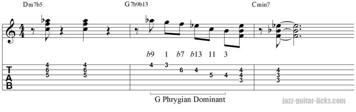 minor 2 5 1 jazz line