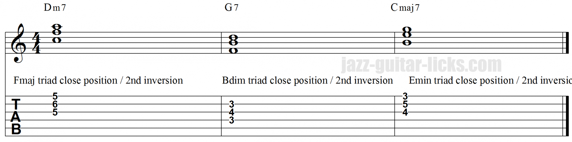 II V I  triad voicings workout