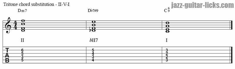 II V I tritone substitution 2