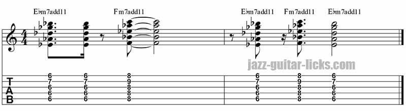 Impressions chord comping john coltrane