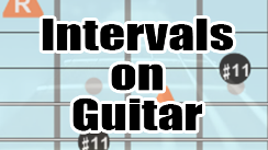 Intervals on guitar