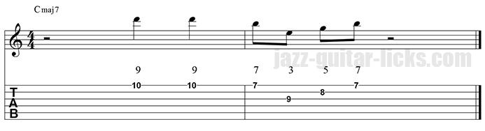 Ionian guitar pattern