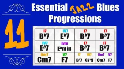 Jazz blues chord progression lesson