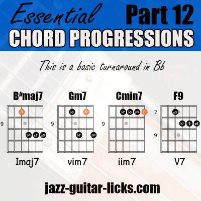 Jazz turnaround guitar voicings 1