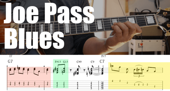 Joe pass blues guitar lesson